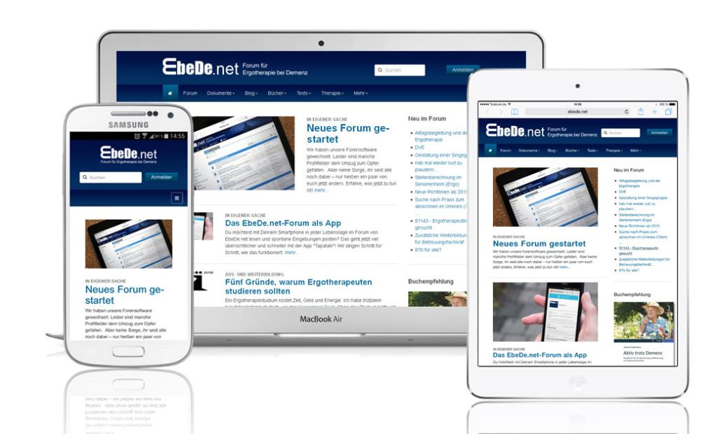EbeDe.net auf Notebook, Smartphone und Tablet