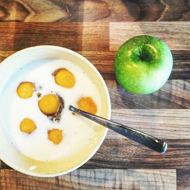 Mmmmm, zum Frühstück heute frisches #rührei. #steinzeitdiät