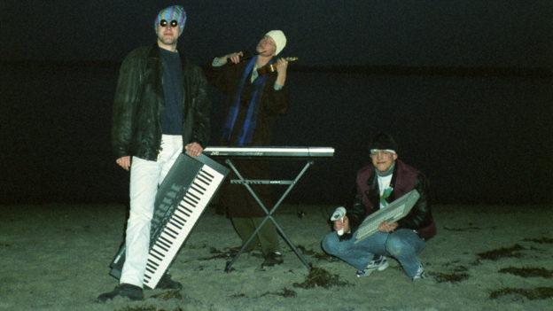 Michael mit Keyboard, Eric mit Ukulele, Marc mit Atari ST